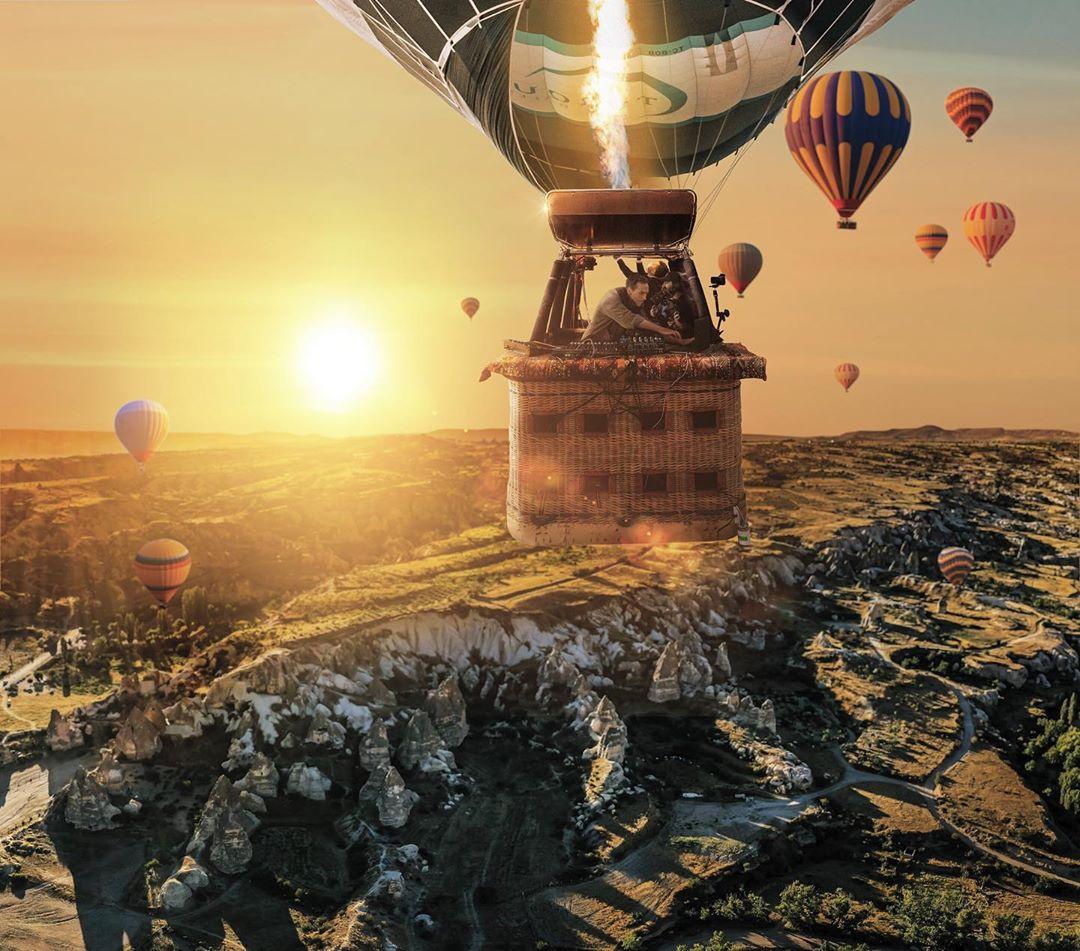 Ben Böhmer 搭上熱氣球在土耳其卡帕多奇亞的奇景上空演出! 4